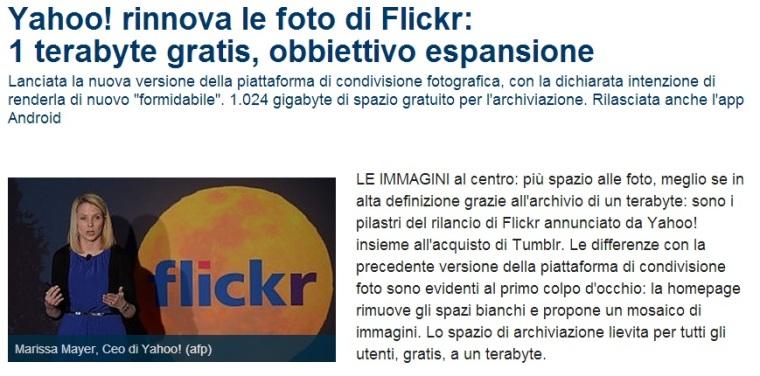 articolo flickr