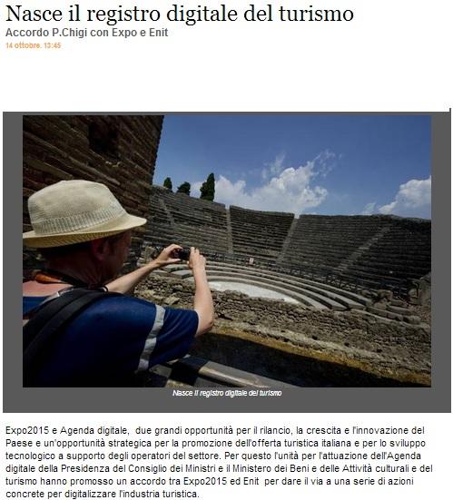 Agenda digitale del turismo