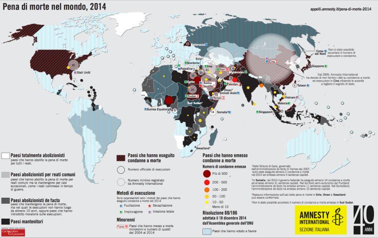 Mappa pena di morte