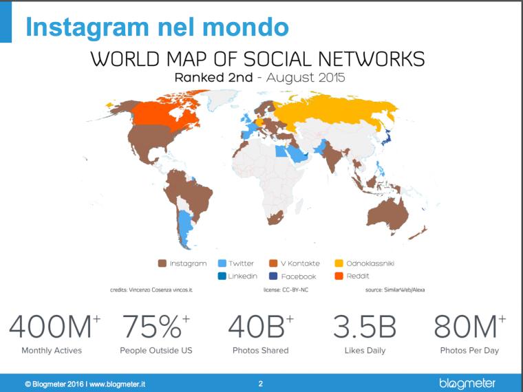 Instagram nel mondo