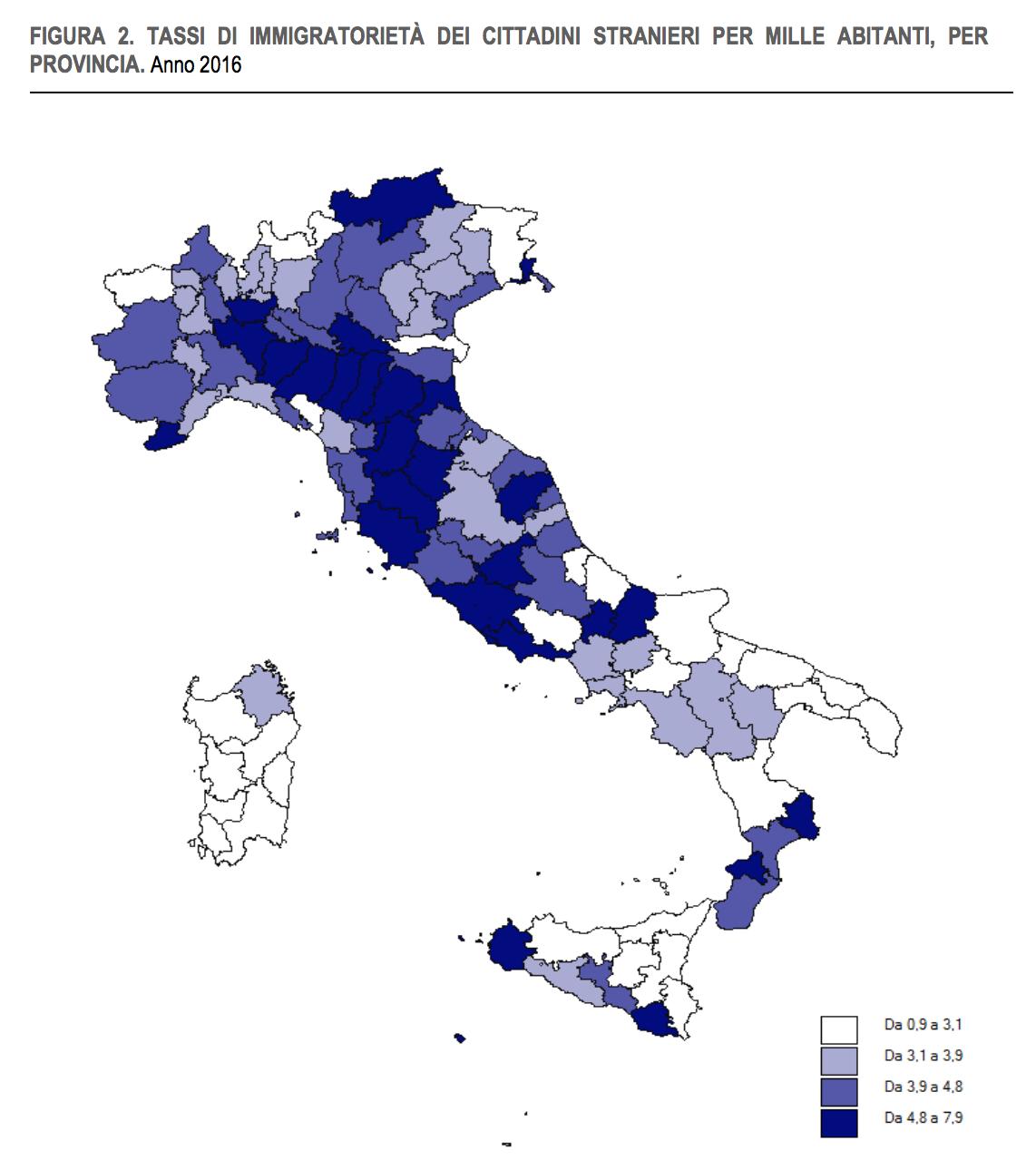 06 - le regioni italiane con il maggior tasso di immigrazione