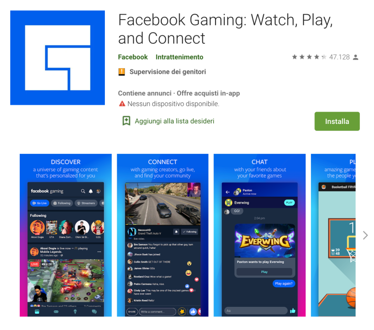 10 - App facebok Gaming