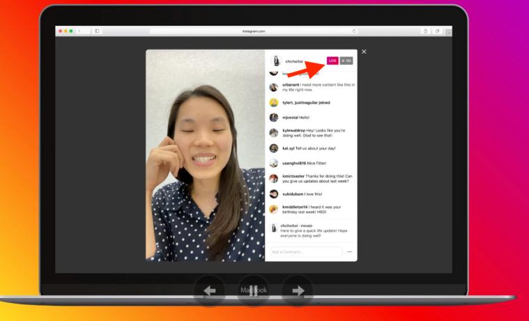 12 - guarda i live su Instagram sul Desktop